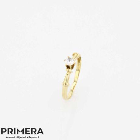 Primera Amanet - 2986 Inel din aur 14 k cu piatra zirconiu