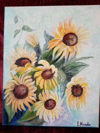Floarea soarelui 2 -pictura ulei pe panza;