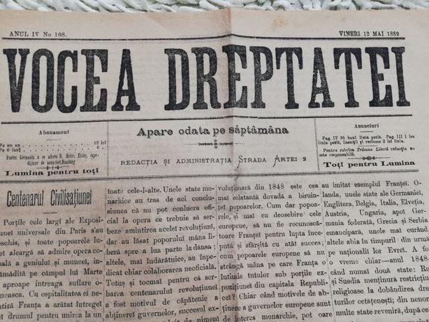ziare despre comunitatea evreiasca in Regatul Romaniei Vocea Dreptatei