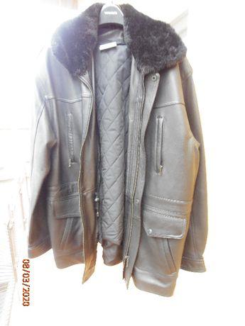 Продавам нова, черна кожена шуба (канадка) зимна/пролетно-есенна.