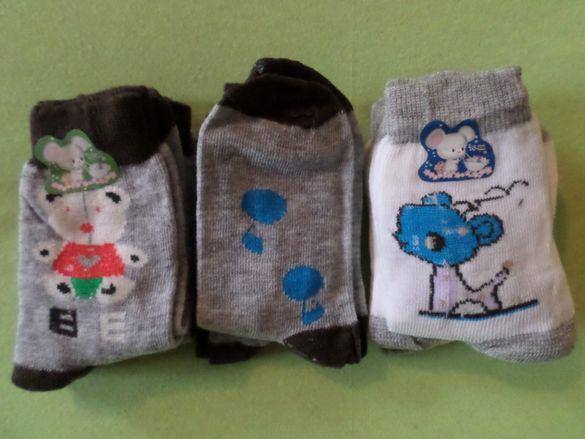 7 чифта детски памучни чорапи - размер 16/22