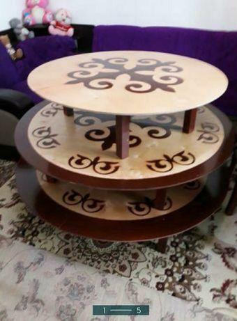 Круглые,прямоугольные казахские столы