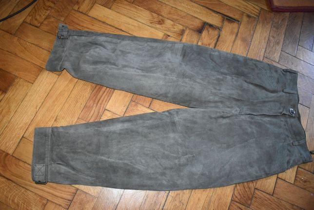 Pantaloni dama din piele intoarsa