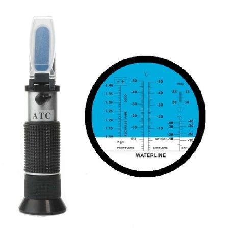Refractometru pentru antigel, acid de baterie, ad blue, lichid de parb