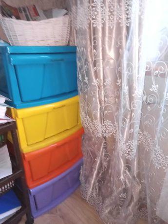 Комод детский пластиковый размер ширина 38 высота 87 глубина 45