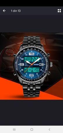 Vand ceas cronograf display analog si digital