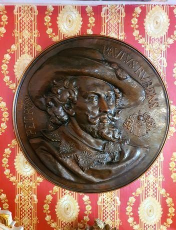 Кръгла Медна  мемориална плоча на Рубенс