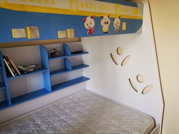 Детска стая мебели с легло 2 етажа