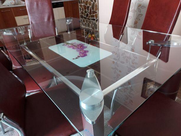 Masa de sticla de bucatarie