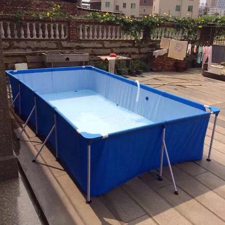 Акция: Каркасный прямоугольный бассейн Bestway 400 х 211 х 81 см,