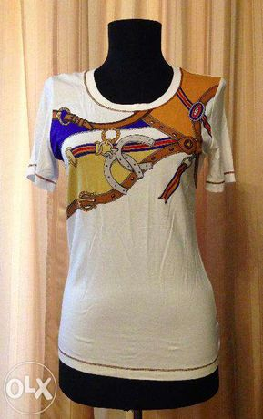 tricou elegant cu pietre Luisa Spagnoli, S