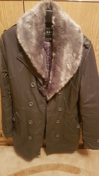 кожено палто