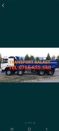 Transport nisip, balast, moloz, pamant etc