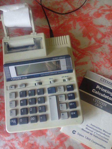 Пишущий калькулятор Ситизен СХ-75