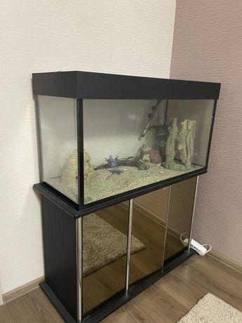 Продам аквариум с тумбой размер 40/55/100