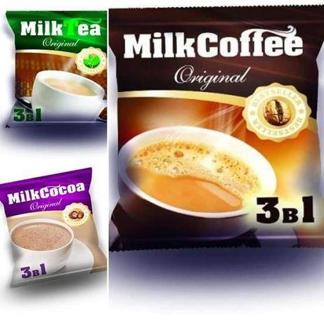 Продаю кофе, чай, какао 3 в 1.