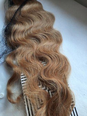 естествена коса - черна и руса