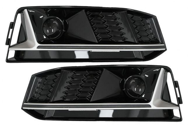 Grile Laterale Audi A4 B9 S-Line Sedan Avant RS4 Design Silver Edition