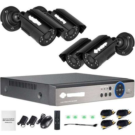 Sistem de supraveghere cu 4 camere exterior + aplicatie telefon+montaj