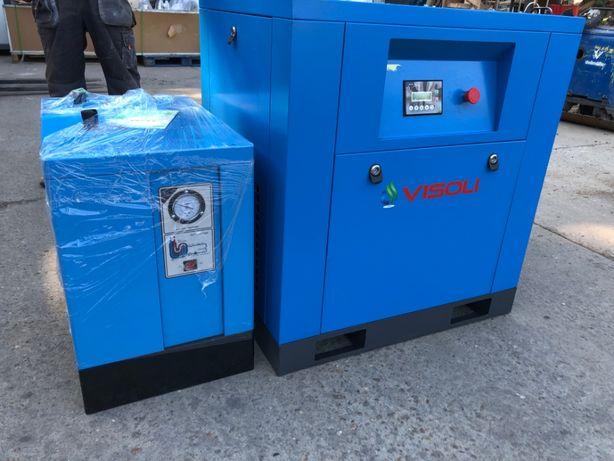 Compresor surub 11kw/15Hp Visoli +Uscator--NOU