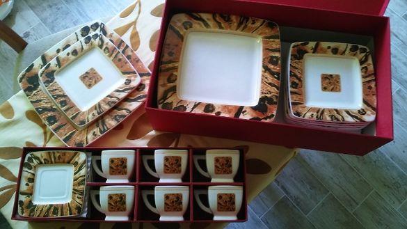 уникални ръчно рисувани сервизи за хранене и кафе или чай