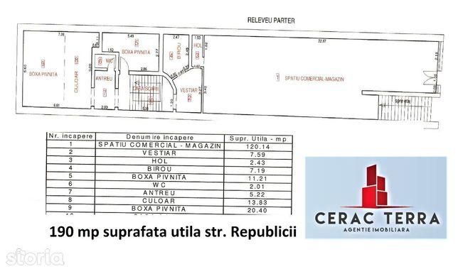 Spatiu comercial vitrina- strada REPUBLICII # CERACTERRA
