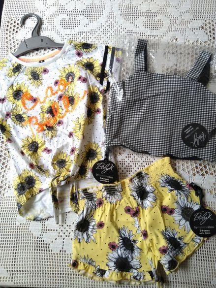 Нов детски летен комплект Mothercare Baby K, размер 3-4 години