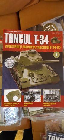 Macheta Tanc T-34 1:16 toate revistele sigilate de la 1 la 130