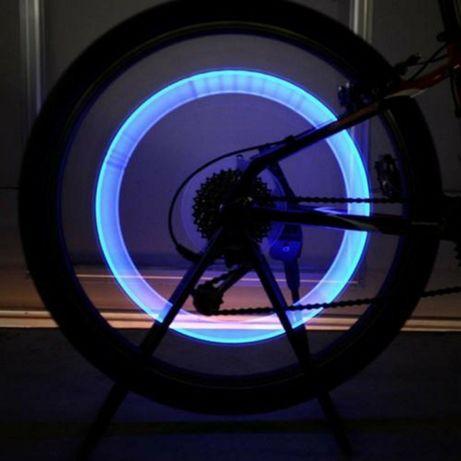 Уникална светеща LED капачка за вентил на автомобил или велосипед