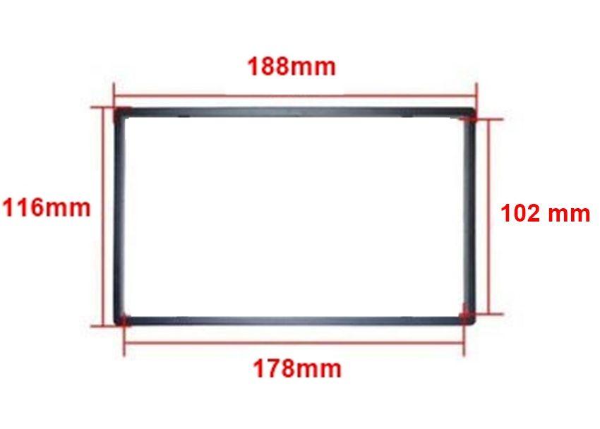 Адапторна рамка / лайсна, за Мултимедии 2 DIN - 178 X 102мм
