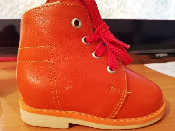 Детская кожаная зимняя ортопедическая обувь