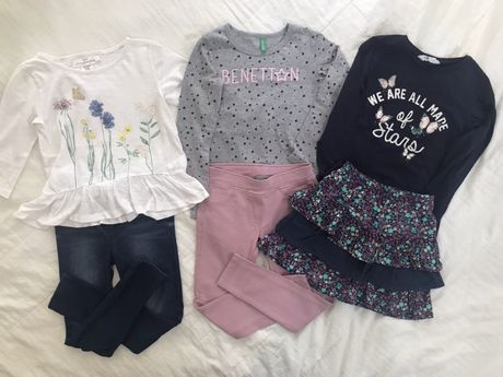 Блузи и клинове, размер 110-116 размер, до 7 лв