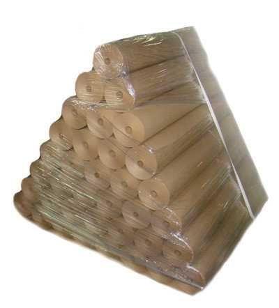 Ролик крафт бурой бумаги 102 см ширина 105м длинна 80гр