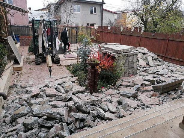 Miniexcavator NOU picon nou sapaturi fundatie excavatie nivelare canal