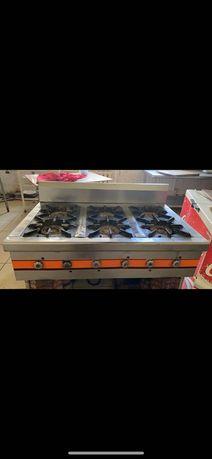 Газовая плита и электроплита с духовым шкафом для общепита
