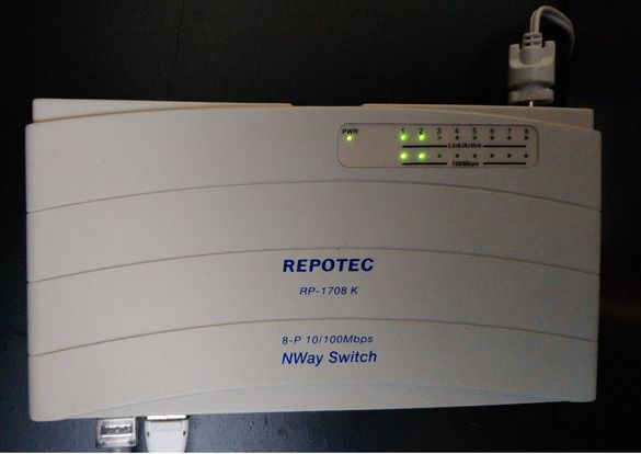 Switch Repotec RP-1708K ; 8-P 10/100Mbps