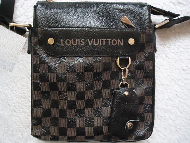 Borseta 2 fete + portchei barbati piele Louis Vuitton 8 compartimente