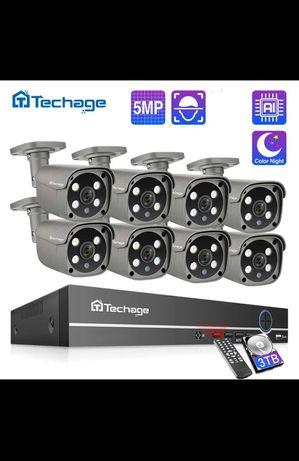 Sistem de supraveghere video cu POE camere de 5mp montaj inclus