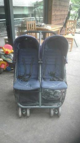 Количка за близнаци, сгъваема, почти нова