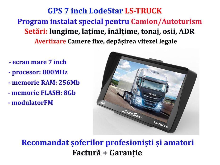 "GPS 7""HD setari Camion/Camioane/TIR, Parasolar+Harti iGO Europa 2021"