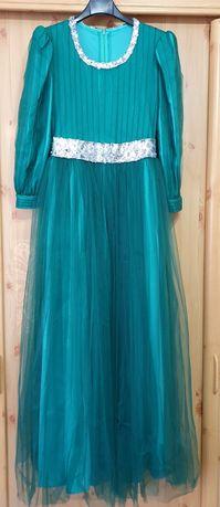 Rochie de seara Verde smarald/turcoaz