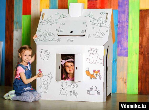 Картонный домик + подарок + алфавит