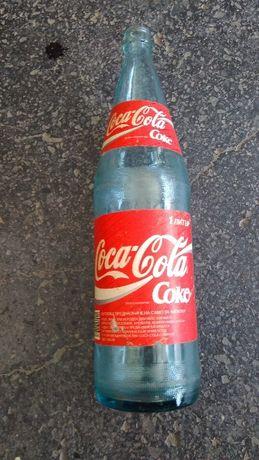 Изключително рядка бутилка от 1 литър Кока кола с хартиен етикет