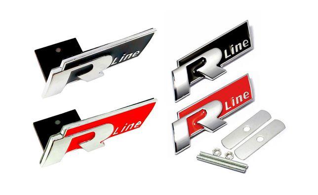 Emblema / sigla metalica grila / aripi - Volkswagen R Line