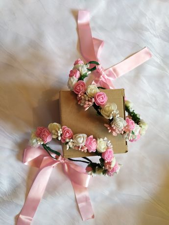 Венче за коса с цветя ръчна изработка
