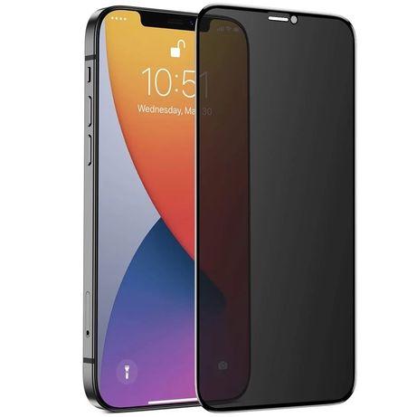 Iphone 11 12 MINI PRO MAX Folie Ceramica Sticla Curbata 11D 6D Privacy
