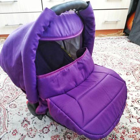 Автолюлька Serenade зима-лето автокресло детское фиолетовый цвет