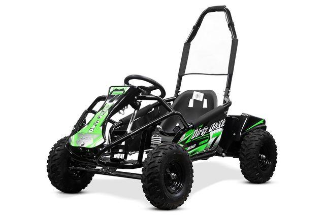 ATV Kart electric pentru copii NITRO GoKid Dirty 1000W 48V #Verde
