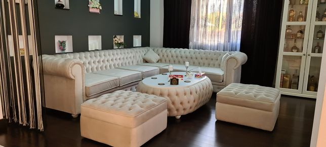 Set Canapea Chestefield pt living