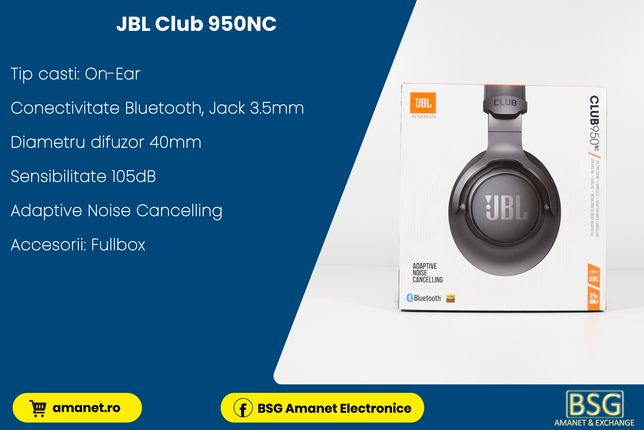 Casti Bt. Jbl Club 950NC - BSG Amanet & Exchange